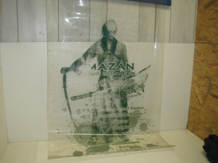 Mazan Flash Of The Blade / Heavy Plastic Flag (Item #15) (Scraped Up / Dirty) (28 3/4 X 44 1/2) $24.99