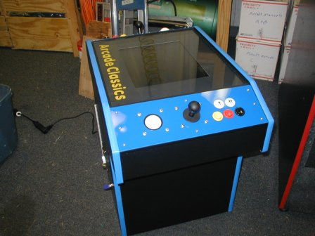New Joysticks, Trackballs, Buttons, Switches,Electronic Coin Mechanism, Circuit Board, Harness,Power Cord, Power Supply, Cabinet Switch, T Molding, ¼ Inch Glass Top Over Monitor, Marquee Graphic & Control Panels,Wood Coin Box, Door Lock
