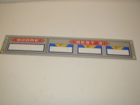 Sega / Subroc 3D Score Board Assembly Plexiglass Front (Item #41) $34.99